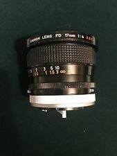 Canon Lens FD 17mm 1:4 S.S.C. (comes with FD converter for Canon DSLR)