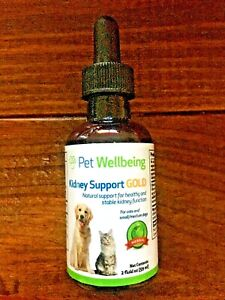 Pet Wellbeing Kidney Support GOLD for Cats, Small/Medium Dogs *open*