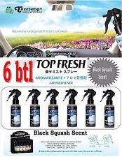6 Btl Spray Treefrog TOP FRESH Fragrance Mist Air Freshener-Black Squash Scent