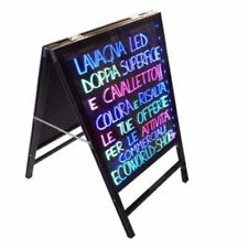 Lavagna Luminosa a Led magnetica 60x40 con cavalletto integrato ristoranti bar