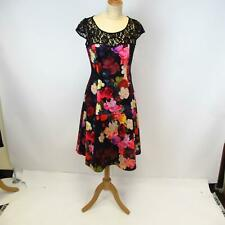 Phase Eight Dora Black Lace Floral Dress w/ Net Petticoat UK 10 EU 38 w/ Tags
