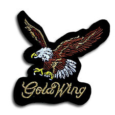 Goldwing Patch Embroidered Iron on Badge Emblem applique Eagle Bike Honda GL