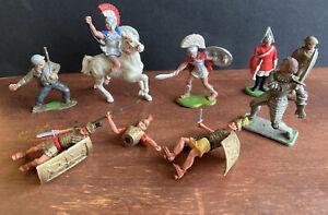 Britains Timpo Plastic Romans Greeks Soldiers.