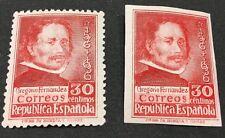SPAGNA 1937 GREGORIO FERNANDEZ 2 VALORI DENTELLATO E NON GOMMA INTEGRA**