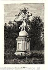 Antique print The Loo palace Apeldoorn Holland / Paleis 1887 de Faam beeld