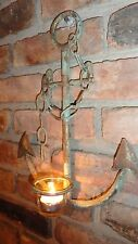 Metal Anchor Tea light Anchor wall decor Rustic decor Nautical Anchor Candle