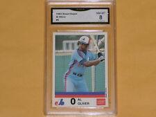 1983 Stuart Expos Baseball Card # 6 Al Oliver GRADE NM-MT 8