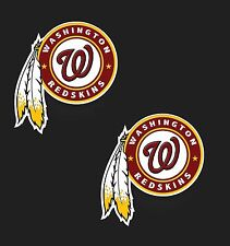 "Set of 2  Washington Redskins Cornhole Board Decals NEW ""13 x 12"" Large"