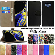 Case For Samsung Galaxy Note 10 Plus 9 8 7 5 4 3 2 Flip Wallet Leather Cover