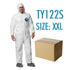 Case of 25 Dupont Tyvek Coverall Bunny Suite with Hood and boots - TY122S / 2XL