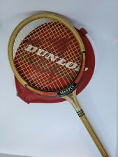 Vintage Wood Dunlop Maxply Light Squash Racquet Racket w/Red Head Cover. England