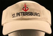 MEN'S St Petersburg Tampa Bay Sunshine City Travel Yacht Club Anchor Visor Hat 2