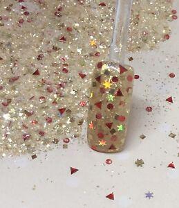 glitter mix nail art acrylic gel   ELEGANT CHRISTMAS
