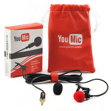 YouMic Lavalier Lapel Microphone with Easy Clip On System