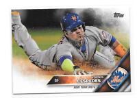 2016 Topps  #407 Yoenis Cespedes  New York Mets baseball card