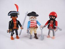 PLAYMOBIL VINTAGE 7228 THREE PIRATES w/ACCESSORIES-COLLECTOR-COMPLETE-EXCELLENT