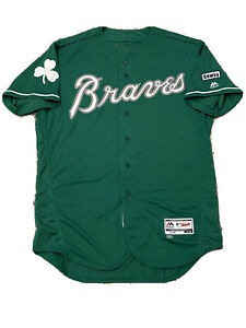 MLB Authenticated - Willians Astudillo Game-Used St. Pat's Day Braves Jersey
