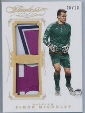SIMON MIGNOLET FLAWLESS SOCCER 4 CARD LOT 5/20 2/9 5/9 06/10 MINT CON