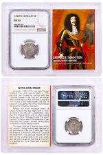 "1640-1705 Austria Silver 3 Kreuzer Leopold I ""The Hogmouth"" NGC AU53 SKU50503"