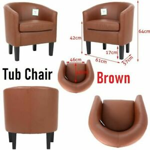 Luxury Faux Leather Tub Chair Armchair Sofa Seat Dining Living Room Office Home.