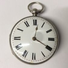 Good Silver Open Face Verge Fusee Pocket Watch, 1854, original and running well