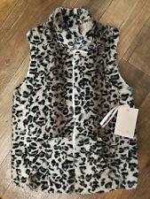 NWT Girl's WIDGEON Zip-Up Faux Fur Vest Size L