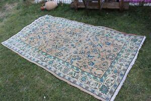 """Vintage Handmade Turkish Oushak  Area Rug 82""""x47"""""""