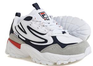 FILA Women CALIPER Training Shoes White Navy Run Sneakers Boot Shoe FS1RIB3071X