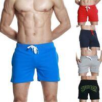 SEOBEAN Men's Running Cotton shorts casual summer beach Small shorts