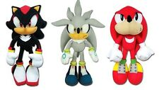 Brand New! GE Sonic The Hedgehog Plush Doll Set - Silver Sonic/Shadow/Knuckles