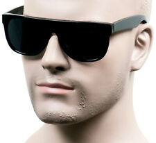 Large Square Cholo Sunglasses OG LOC Style Street Gangster Super Dark Brown ST1