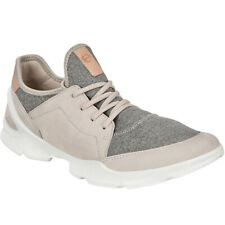 Ecco Womens Biom Street Leather Casual Fashion Trainers Sneakers - Gravel