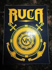 """Authentic RVCA Sticker Black with yellow lettering 3 1/4"""" x 4 1/4"""" COOL!!"""