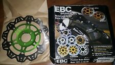 NEW EBC VR4136GRN FRONT Brake Rotor GREEN KAWASAKI NINJA ZX6R ZX600 ZX636 ZZR600