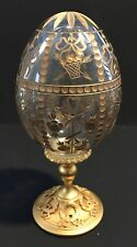 Faberge crystal egg, 6� tall