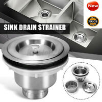 Stainless Steel Kitchen Sink Drain Strainer With Removable Deep Waste
