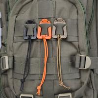 10x in Set Molle Webbing Tactical Cord Clips Buckle Tie-down Elastic Carabiner·