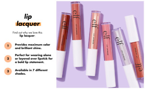 e.l.f. Lip Lacquer Gloss maximum color, brilliant shine with Vitamin E - Sealed