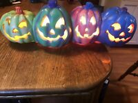 VINTAGE TRENDMASTERS HALLOWEEN BLOW MOLD LONG MULTI COLOR TOTEM WORKS 1995 Rare