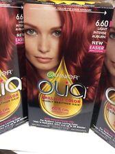 3 X Garnier Olia Oil Powered Permanent Hair Color, 6.60 Light Intense Auburn NEW