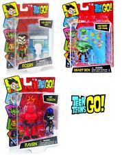 "Set of 3 DC TEEN TITANS GO! 2.75"" ROBIN - BEAST BOY - RAVEN"