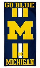 "Michigan Wolverines Striped 30"" x 60"" Fiber Reactive Beach Towel"