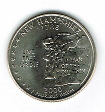 2000-P  Brilliant Uncirculated New Hampshire 9TH State Quarter Coin!