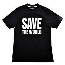 Hamnett Save The World T-Shirt in Black Katherine Hamnett SAVE THE WORLD
