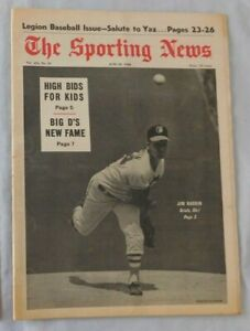 June 22 1968 Sporting News Jim Hardin Baltimore Orioles