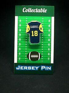 Los Angeles Rams Roman Gabriel jersey lapel pin-Classic vintage Collectable