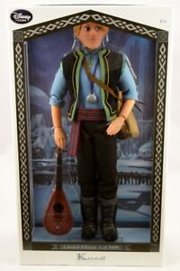 """Authentic New Disney Store Frozen Kristoff Doll Limited Edition COA 18"""" March"""
