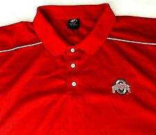 Ohio State Buckeyes Men's 3XL Embroidered Red Polo Shirt College Sport Logo XXXL