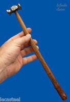 joli petit marteau d' orfèvre à beau manche - outils anciens