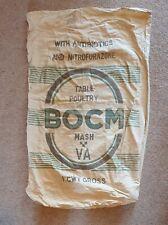 More details for vintage bocm linen grain table poultry sack, 1cwt gross upholstery